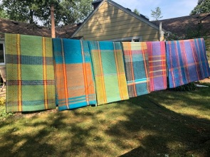 Phyllis S. Happy Towels on the line