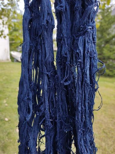 Jan M Indigo Dyed wool for use in overshot