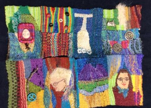 Linda A, Tapestry Origami folded Zine