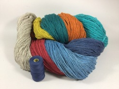 Linda A. Dyed wool for upcoming Krokbragd project