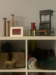 Susan K. Collection of Nanette M cards and weaving memorabilia.