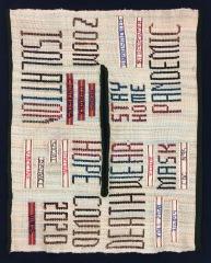 """Linda A- Zine """"Unprecedented""""- laid out flat. Silk Dble weave P.U."""