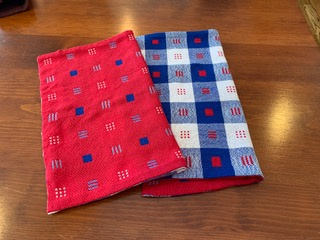 Valda M: Towels from early Handwoven Magazine