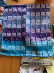 Al N Block weave, cotton, 12 dent trying to balance blocks.
