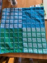 Al N. Block weave, cotton, 12 dent trying to balance blocks.