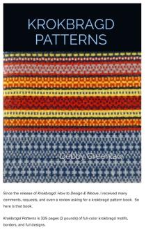 Krokbragd Patterns. Linda A & Ginger T were test weavers for her new book released April 7.2021