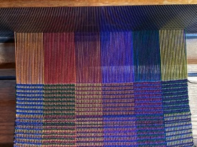 Claudia W. Jennifer Moores Workshop. Still trying a variety of colors but settled on black weft for the latest.