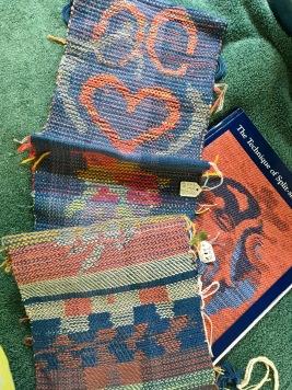 Linda A: Workshop samples for Split Shed weaving